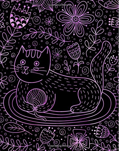 Read Online Journal Notebook Cute Cat in Flowers Pattern 5: 172 Lined Numbered Pages With 3 Index Pages For Easy Organization in Large 8 x 10 Size For Journaling, ... Doodling.  (Artsy Lined Journals) (Volume 36) pdf