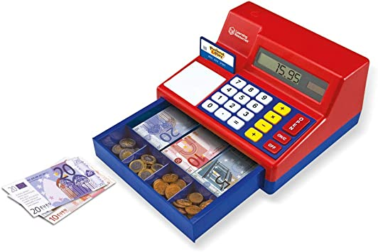 Learning Resources- Caja registradora calculadora con Dinero del Reino Unido de Juguete Pretend & Play, Color (LSP2629-EUR): Amazon.es: Juguetes y juegos