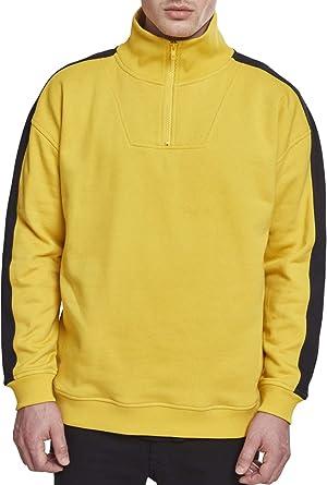 85884b270d Urban Classic Men s Oversize Sweat Shoulder Stripe Troyer Sweatshirt ...