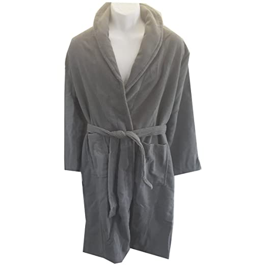 Image Unavailable. Image not available for. Color  Hotel Spa Collection Men s  French Terry Bath Robe ... 7cc1c349d