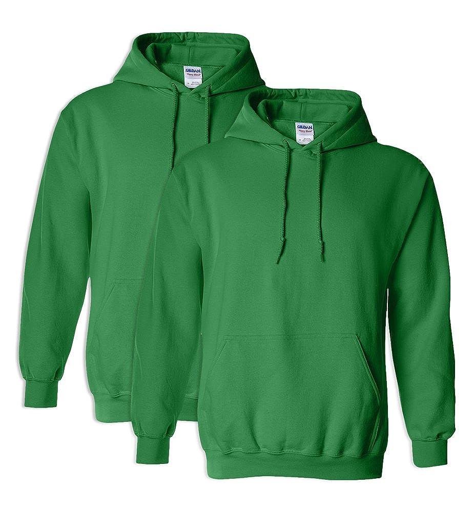 Gildan G18500 Heavy Blend Adult Unisex Hooded Sweatshirt XL Irish Green 2 Pack