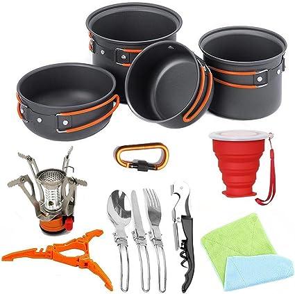 FYHCY Camping Cocina Acampar Kit Utensilios de Cocina de 2 a ...