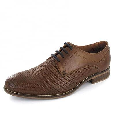 ef9d0cb8cf85 Andiamo Men s Lace-Up Flats Brown Brown  Amazon.co.uk  Shoes   Bags