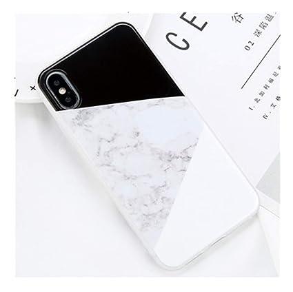 Amazon.com: Carcasa de mármol brillante para iPhone X ...