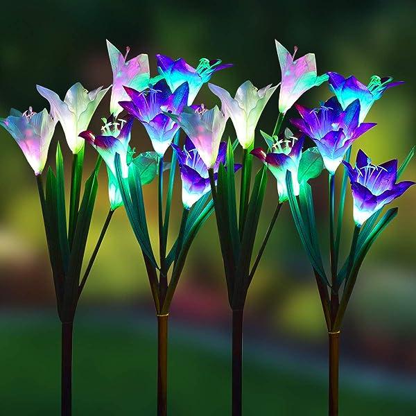 2x Solar LED Garden Yard Stake Path Patio Landscape Lamp Light Butterfly