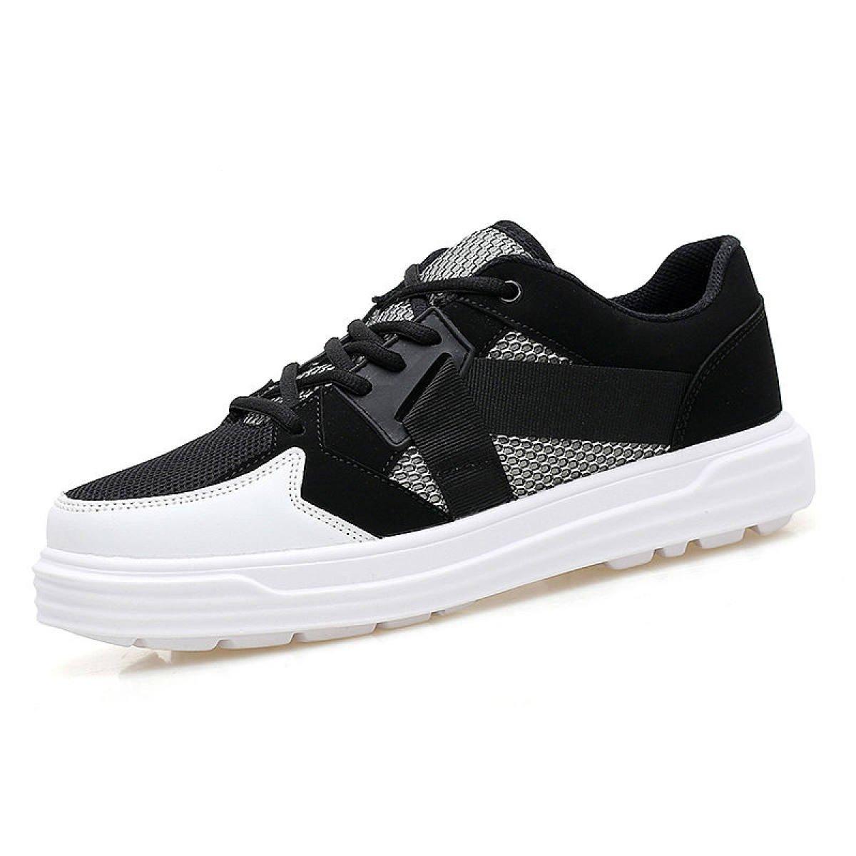 GRRONG Paare Schuhe Sport Netto-Schuhe Atmungsaktive Mesh-Laufschuhe  41|Black