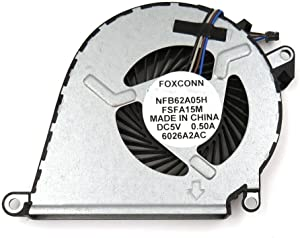 New Laptop CPU Cooling Fan Replacement for HP Omen 15-AX010CA 15-AX013DX 15-AX020CA 15-AX023DX 15-AX033DX 15-AX039NR 15-AX043DX 15T-AX000