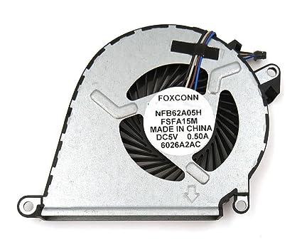 New for HP Omen 15-ax 15-ax000 15-AX030TX 15-AX020CA 15-AX039NR 15-AX252NR  15-AX253DX 15-ax100 15-ax200 NFB62A05H-FSFA15M 858970-001 CPU Cooling Fan
