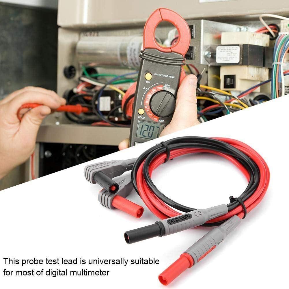 CHUNSHENN Clamp Multimeter, Multimeter Test Leads Kit Multimeter Leads With 8 Pcs Probe Pins Alligator Clips And Banana Plug For Multimeter Clamp Meter Test Leads Multimeter Test Leads Electronic Test