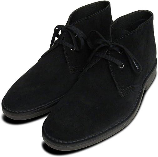 Kebo Black Suede Desert Boots for Men