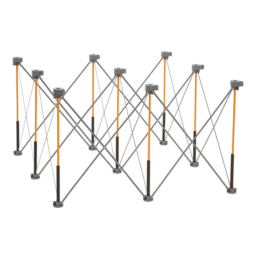 Bora Centipede 4ft x 4ft 9-Strut Work Table, Includes 4 X-Cups, 4 Quick Clamps, Carry Bag, Portable Work Support Sawhorse, CK9S by Bora