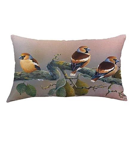 LEEDY_Pillow Case Funda de cojín de Lino con diseño ...