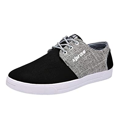 sports shoes c4bca 7eaf4 Amazon.com  Boomboom Teens Boys Breathable Sports Flat Shoes Student Canvas  Shoes  Clothing