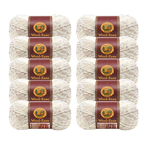 (10 Pack) Lion Brand Yarn 620-402 Wool-Ease Yarn, Wheat