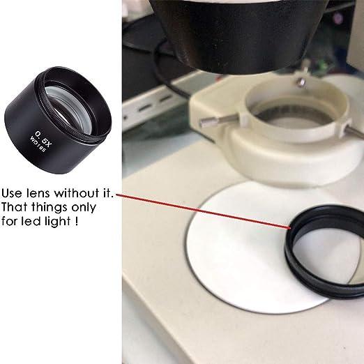 AmScope SM05/0.5/X Lente Barlow Para La Serie SM microscopios est/éreo 48/mm