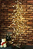 Fashionlite 4Feet 96 LED Golden Leaves Lighted Tree with Cracked Beads Style,Warm White