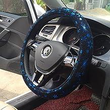 """Ocean Blue Snowflake Steering Wheel Cover For 4 Seasons 15"""""""