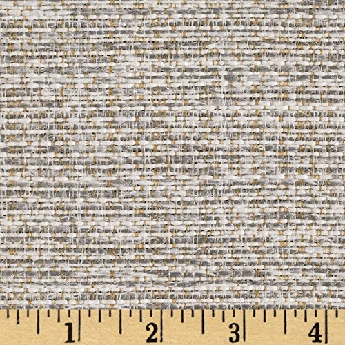 (Magnolia Home Fashions 0353010 Upholstery Boulder GreyBasketweave Fabric by The Yard, Grey)
