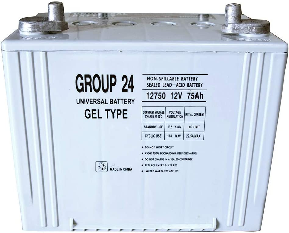 Group 24 Gel Type Battery 12V 75Ah for Ivacare 3G Storm Series