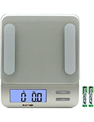 AccuWeight Digital Kitchen Gram Scale Backlight Display Electronic cooking Meat Food Weight Scale, 5kg/11lb AW-KS005WS