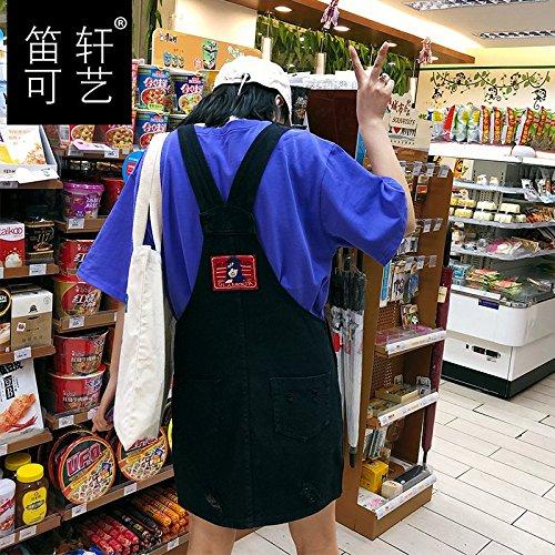 en 9316 116 Jin Robe Jupe L'tudiant MiGMV Une Robe Black Jupe Harnais Vent Jupe Nouvelle Denim 125 qXAU4w