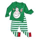 Family Pajamas Matching Sets Santa Cartoon Long