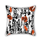 NICEPLW pillowcover of flower,for valentine,festival,wedding,bar seat,son,chair 18 x 18 inches / 45 by 45 cm(twice sides)