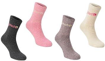 Gelert - Calcetines para botas de senderismo Pack de 4 Pink Ladies 4 - 8 Senderismo, Pesca Rambling: Amazon.es: Deportes y aire libre