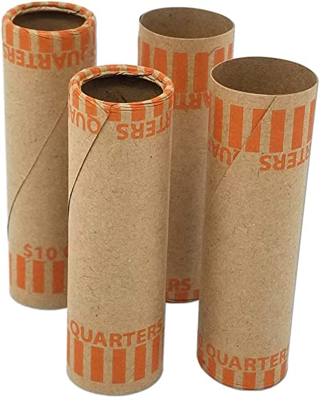 20 of each - Pennies, Dimes, Nickels, Quarters 80 Flat Tubular Coin Wrappers