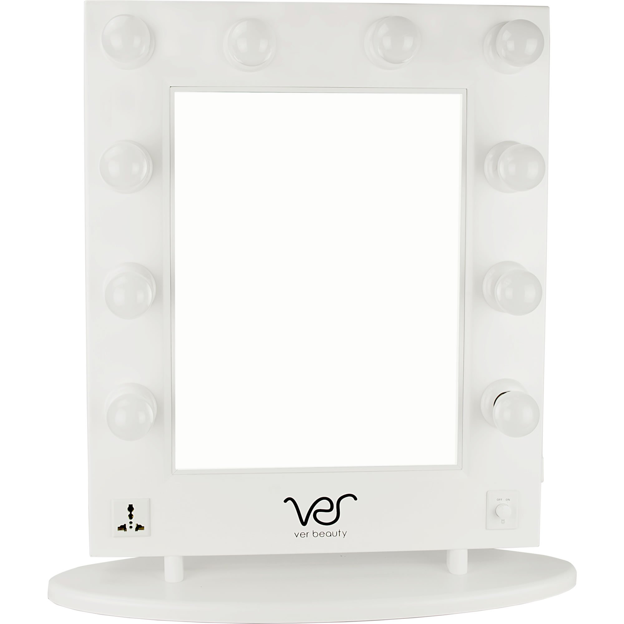 Ver Beauty VMR4512 Hollywood Vanity Mirror, White Matte