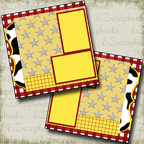WOODY INSPIRED - Premade Scrapbook Pages - EZ Layout 2033