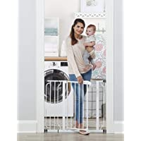 Regalo Easy Step 38.5-Inch Extra Wide Walk Thru Baby Gate, Includes 6-Inch Extension Kit, 4 Pack Pressure Mount Kit, 4…