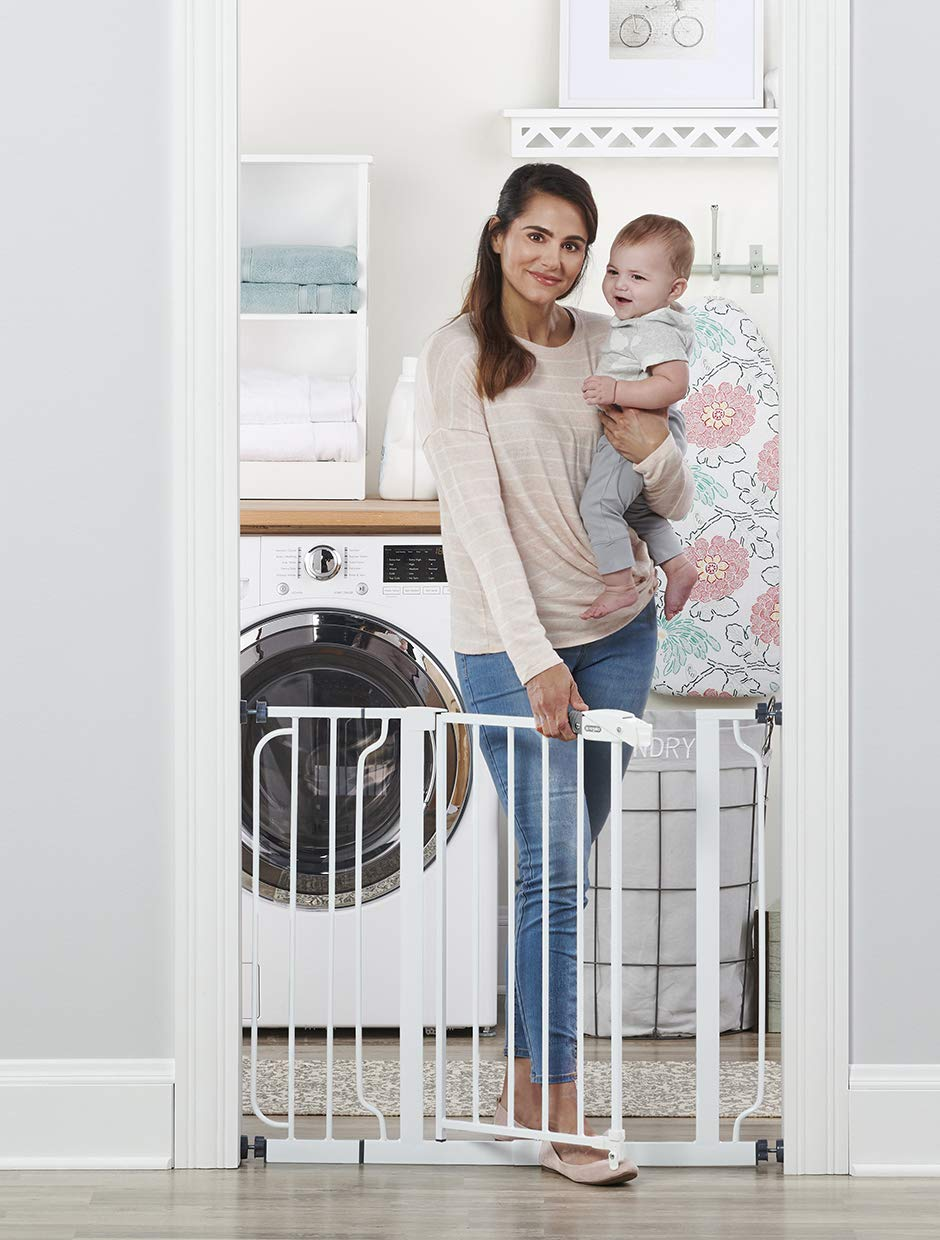 Regalo Easy Step 38.5-Inch Extra Wide Walk Thru Baby Gate, Includes 6-Inch Extension Kit, 4 Pack Pressure Mount Kit, 4 Pack Wall Cups and Mounting Kit ( 1 Gate Set) : Indoor Safety Gates : Baby