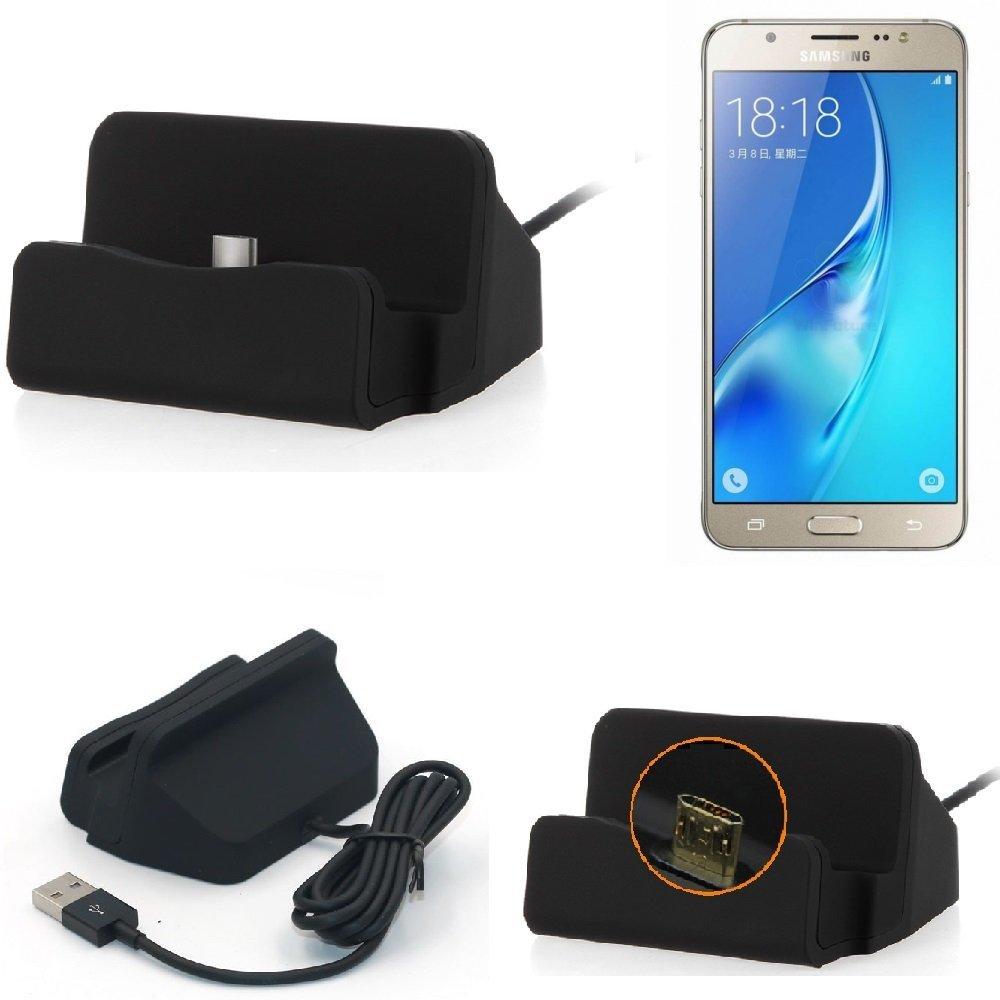 K-S-Trade Base de Carga para Samsung Galaxy J5 (2016) Micro ...