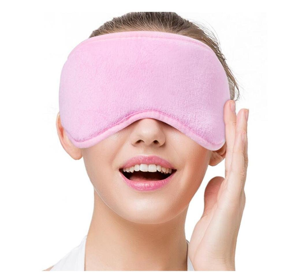 WE&ZHE Usb Shade Sleep Eyes Cover Hot Heating Far Infrared Vapor Heating Massage Eyes Cover - Reduce Eye Fatigue , Pink