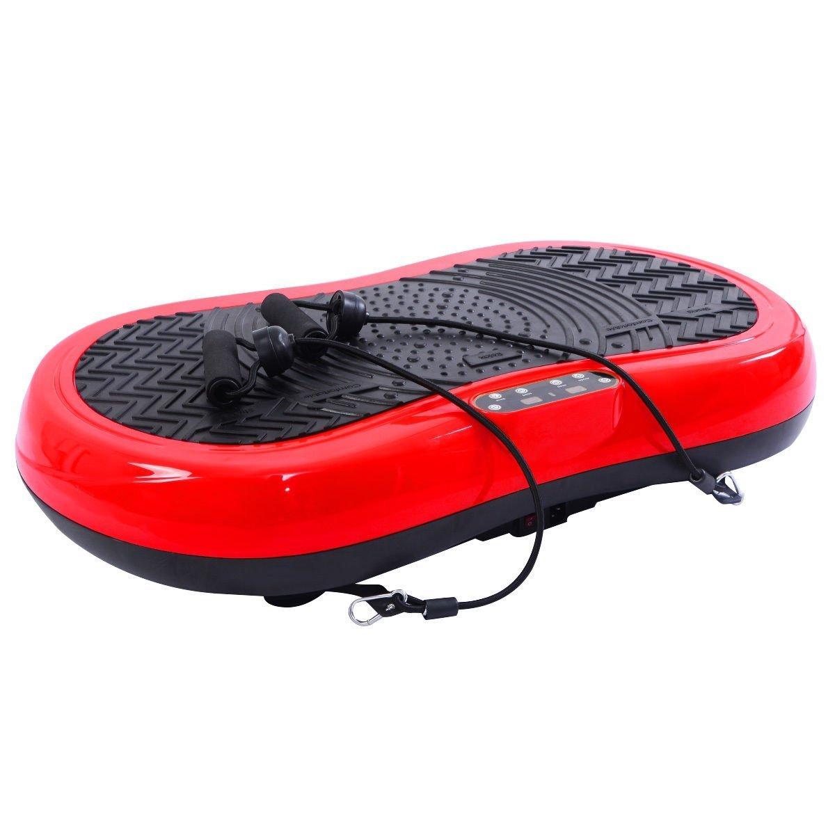 Tangkula Ultrathin Mini Crazy Fit Vibration Platform Massage Machine Fitness Gym (Red) by Tangkula (Image #1)