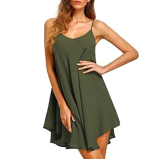0ca998f23c4d2 Amazon.com  Leewos Clearance! Summer Chiffon Small Dress