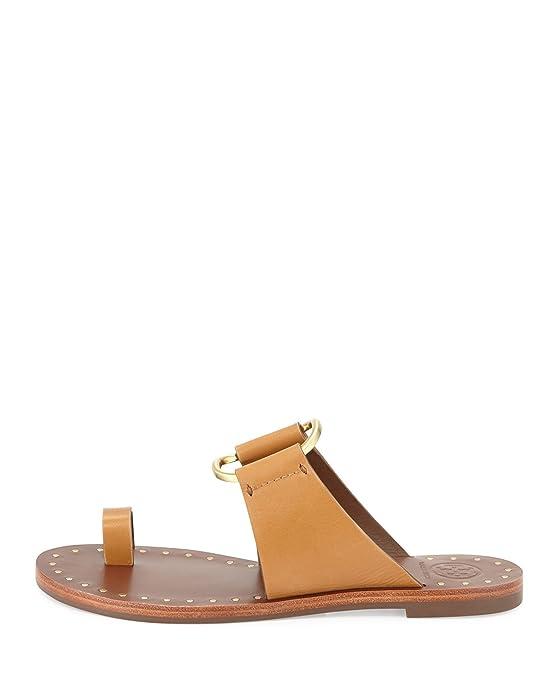 025b31a43a0d Tory Burch Brannan Studded Sandal Monark Vachetta Tan Size 6.5  Amazon.ca   Shoes   Handbags