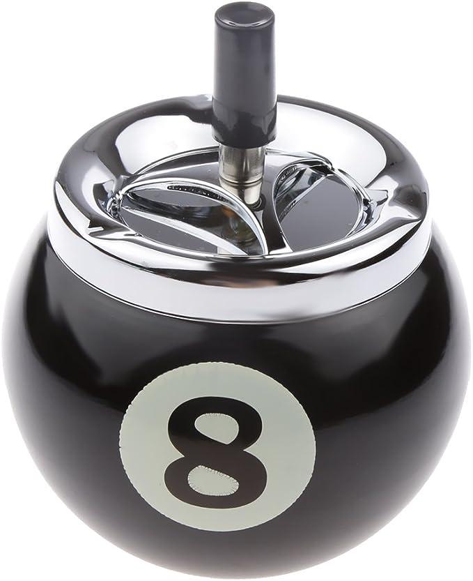 IPOTCH Cenicero con botón a presión, Resistente al Agua, diseño de ...
