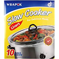 WRAPOK Slow Cooker Liners Kitchen Disposable Cooking Bags BPA Free for Oval or Round Pot, Large Size 13 x 21 Inch, Fits…