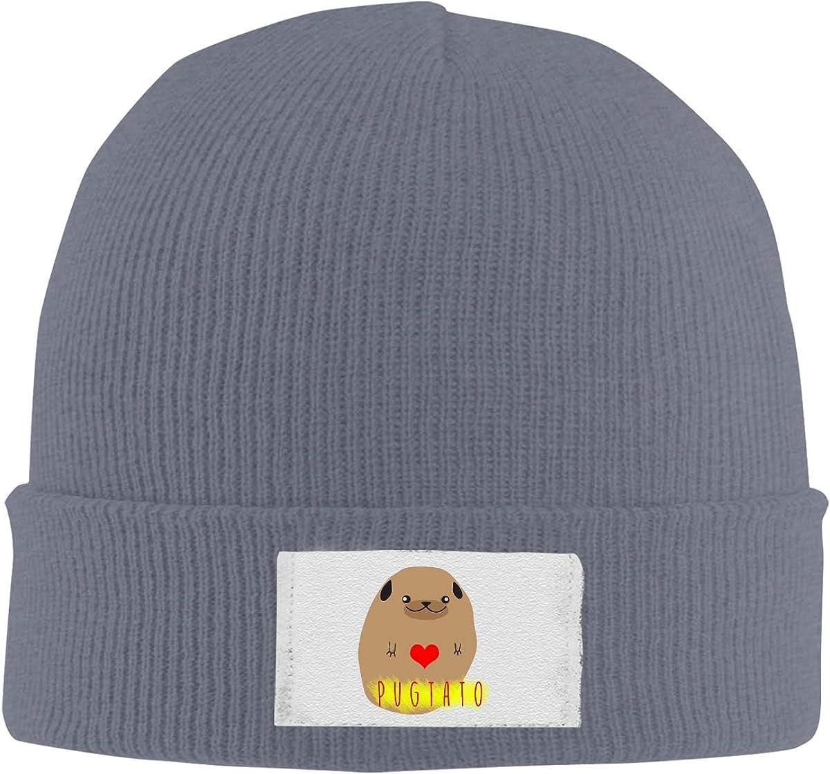 Skull Caps My Patronus is an Unicorn Winter Warm Knit Hats Stretchy Cuff Beanie Hat Black