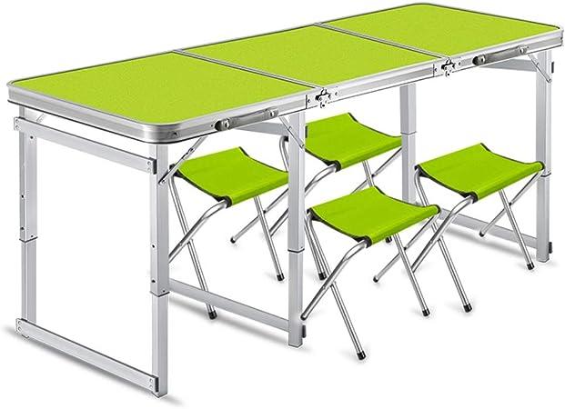 Mesa Plegable Plegable Cubierta Tabla y sillas al Aire Libre ...