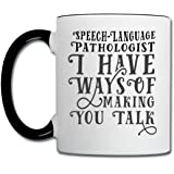 SLP Ways Of Making You Talk Contrast Coffee Mug by Spreadshirt, white/black