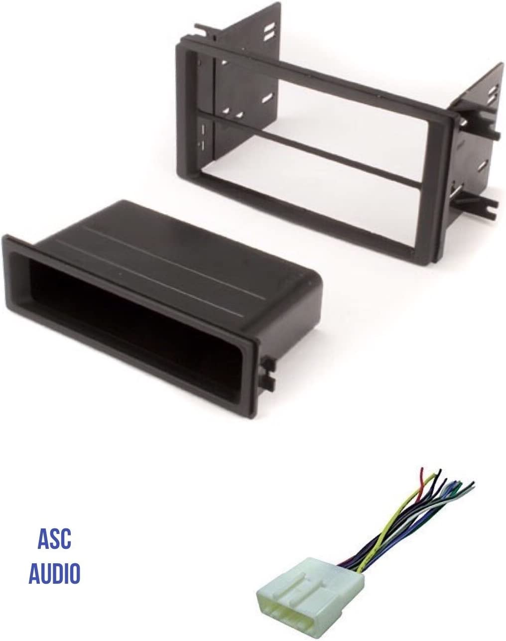 2008-2011 Subaru Impreza No Factory NAV ASC Car Stereo Install Dash Kit and Wire Harness for installing an Aftermarket Single or Double Din Radio for 2009-2013 Subaru Forester 2008-2014 Subaru WRX