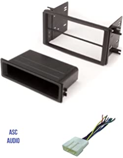 asc car stereo install dash kit and wire harness for installing an  aftermarket single or double