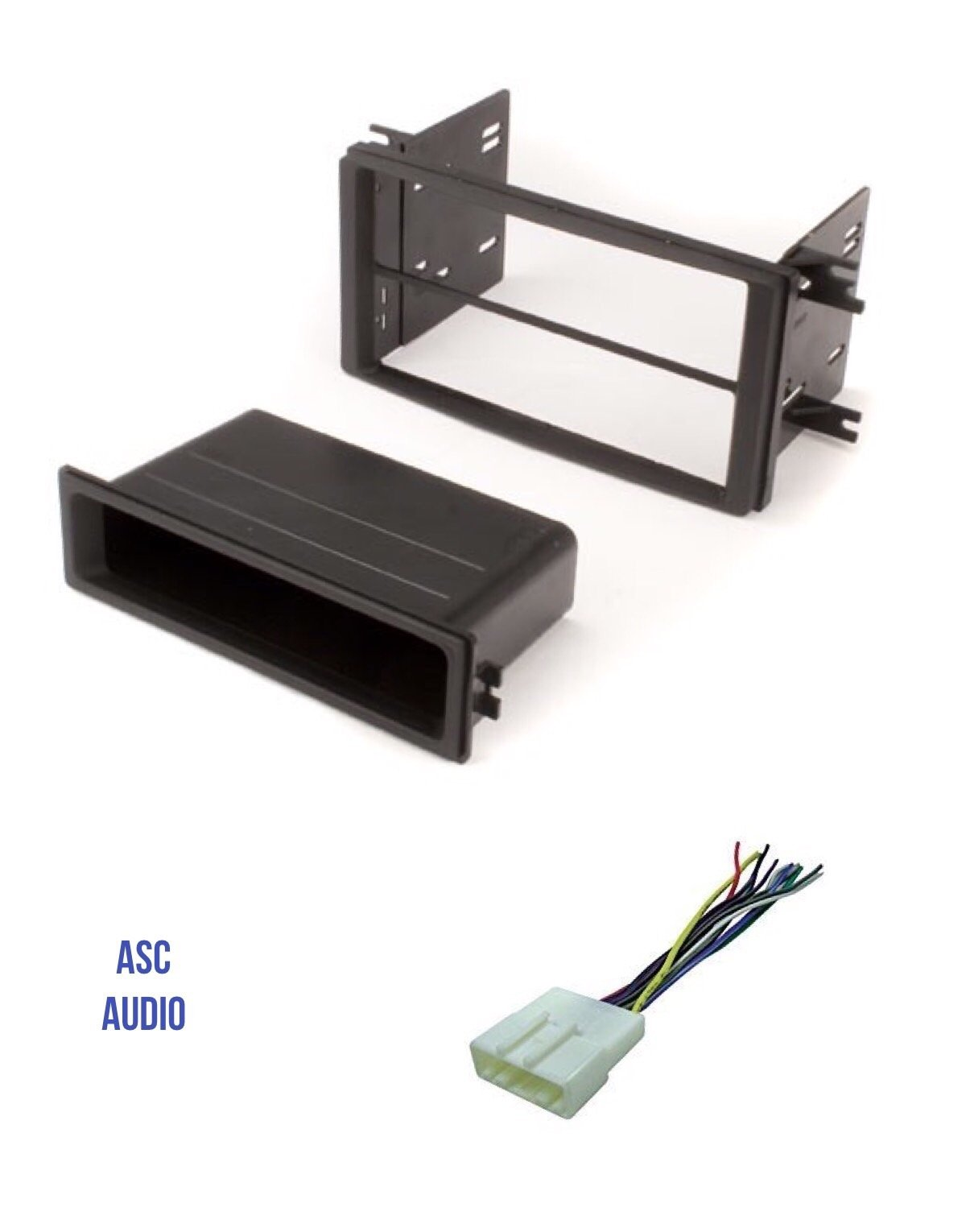 ASC Car Stereo Install Dash Kit and Wire Harness for installing an Aftermarket Single or Double Din Radio for 2009-2013 Subaru Forester, 2008-2011 Subaru Impreza, 2008-2014 Subaru WRX - No Factory NAV
