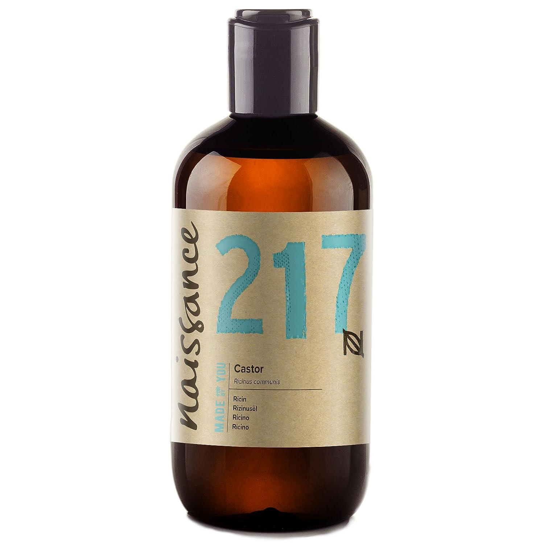 Naissance Cold Pressed Castor Oil (no. 217) 250ml - Pure, Unrefined, Vegan, Hexane Free, No GMO