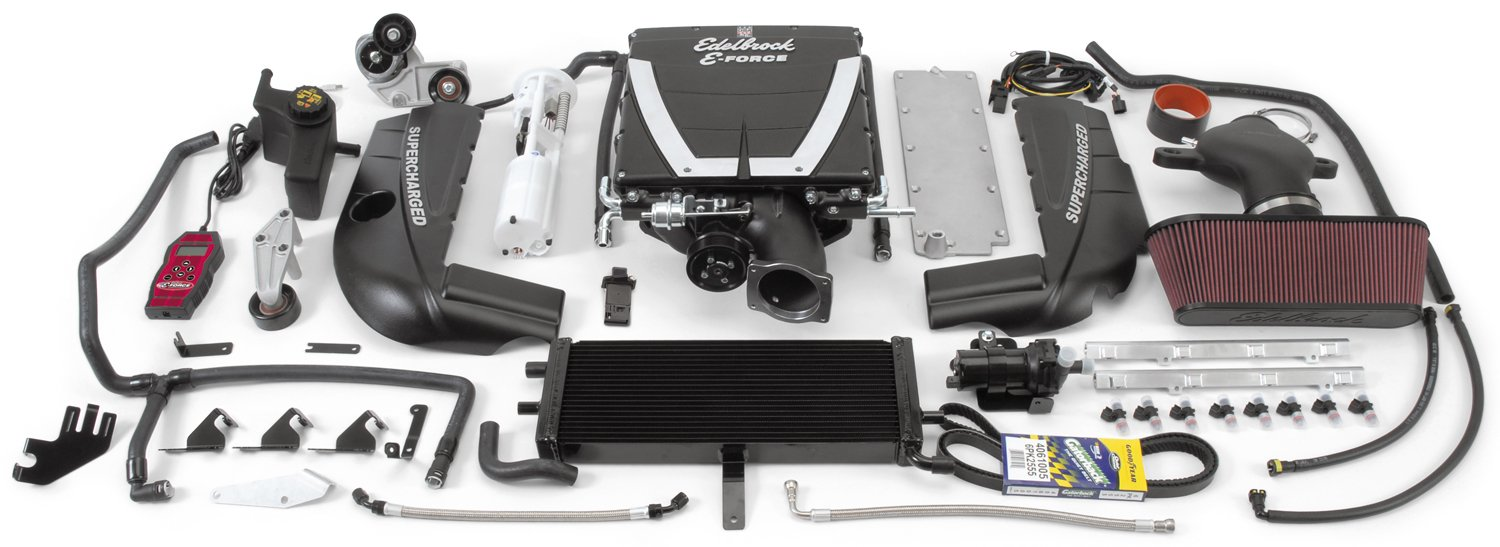 Edelbrock 1594 E-Force Supercharger Assembly Kit for Corvette LS2 Base Model