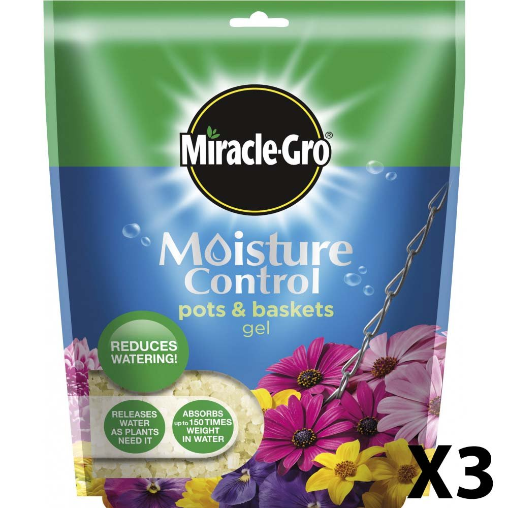 Miracle-Gro Moisture Control Pots and Baskets Gel Bag, 250 g (2 X Miracle-Gro Moisture Control Pots)