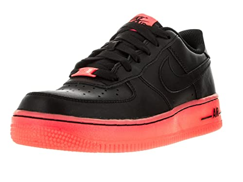 de6e8d98cf4 Zapatillas Nike - Air Force 1 Premium (GS) Negro Rojo Hot Lava 39   Amazon.es  Zapatos y complementos